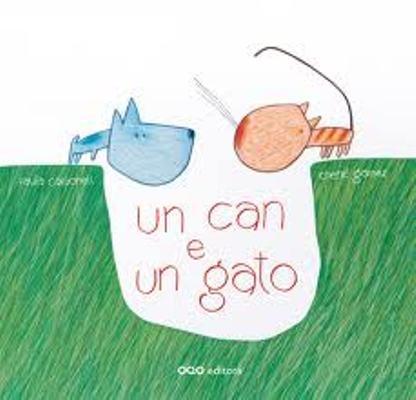I-CC CAR can azul. Un can e un gato / texto de Paula Carbonell; ilustracións de Chené Gómez.