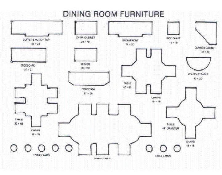 Furniture templates 1 4 inch scale item details reviews for Furniture templates for room design