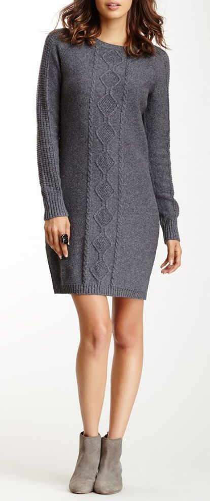 Cullen Cabled Knit Dress with a pair of cute leggings would complete the look