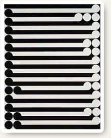 """Gordon Walters - """"Karakia"""", PVA and acrylic on canvase, 1977"""