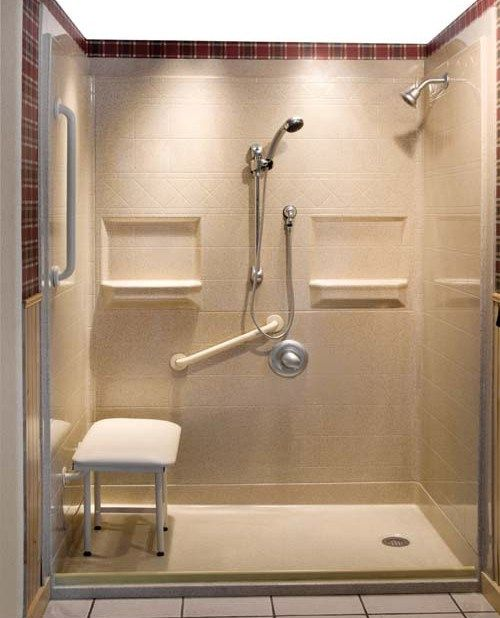 17 best ideas about roll in showers on pinterest for Handicapped accessible bathroom plans