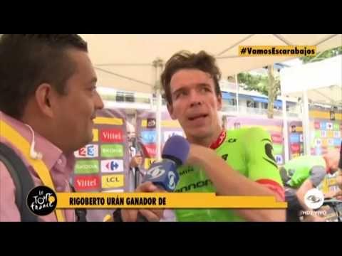 """Rigoberto Urán pregunta a periodista de Caracol Televisión: """"Usted sabe qué es nea"""" - VER VÍDEO -> http://quehubocolombia.com/rigoberto-uran-pregunta-a-periodista-de-caracol-television-usted-sabe-que-es-nea    Créditos de vídeo a Popular on YouTube – Colombia YouTube channel"""