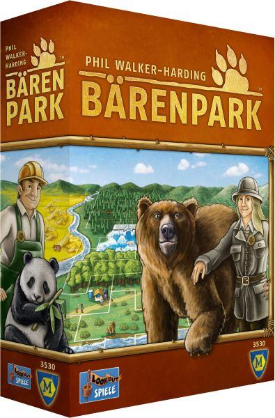 Jeder Spieler baut an seinem eigenen Bärenpark. Der soll möglichst schön werden, also puzzelt ihr Außengehege, Tierhäuser und Grünanlagen geschickt aneinander, um ja keinen Quadratmeter ungenutzt z…