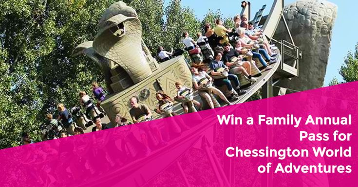 Enter the competition to win an Annual Family Pass for Chessington World of Adventures