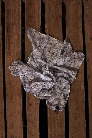 """OKKULT Signature Pattern Scarf. From """"OKKULT"""", the 2013 collection by SARA BURKHARD."""