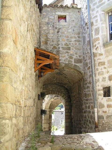 Archway in the medieval city of Largentiere ~ Ardeche