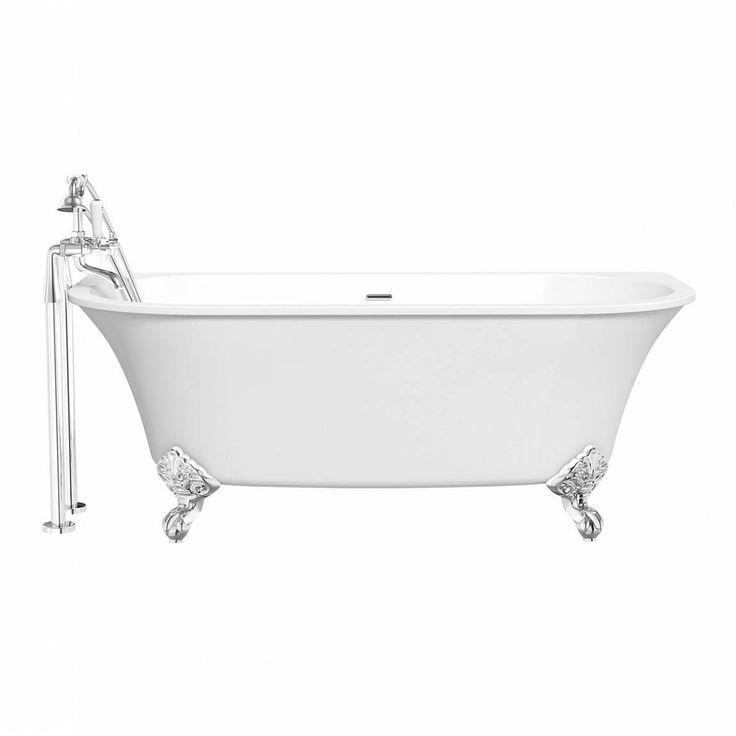 A roll top bath is a real luxury, and the Camberley Back to Wall Bath is the perfect option for any traditional bathroom, even where space is at a premium.	The straightened edge is designed to fit against a wall for the most efficient use of space, and, with a choice of ball or dragon claw feet, this bath will make a real style statement.	Match with a freestanding traditional style tap to complete the classic look.