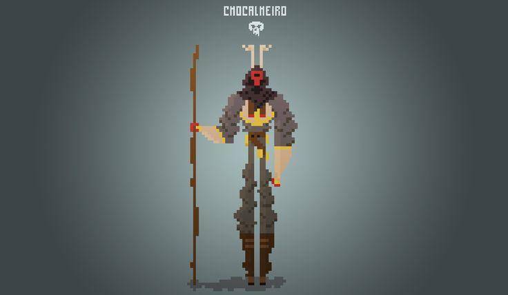 "#2 From the series of ""O chocalheiro de Bemposta"" #pixelart #character Design"