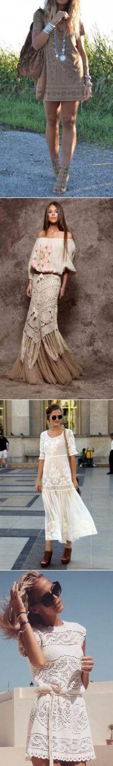 Платья, туники и подобное в стиле хиппи, бохо-шик