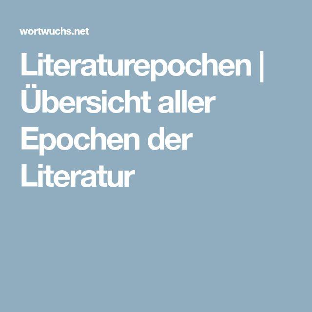 Literaturepochen | Übersicht aller Epochen der Literatur