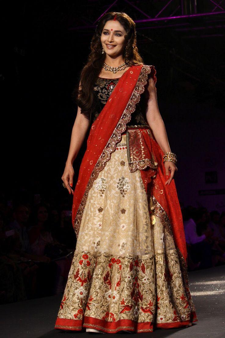 Madhuri Dixit In Manish Malhotra Wear Collection