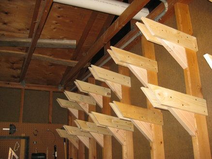 Overhead Lumber Storage Ideas Woodworking Projects Amp Plans