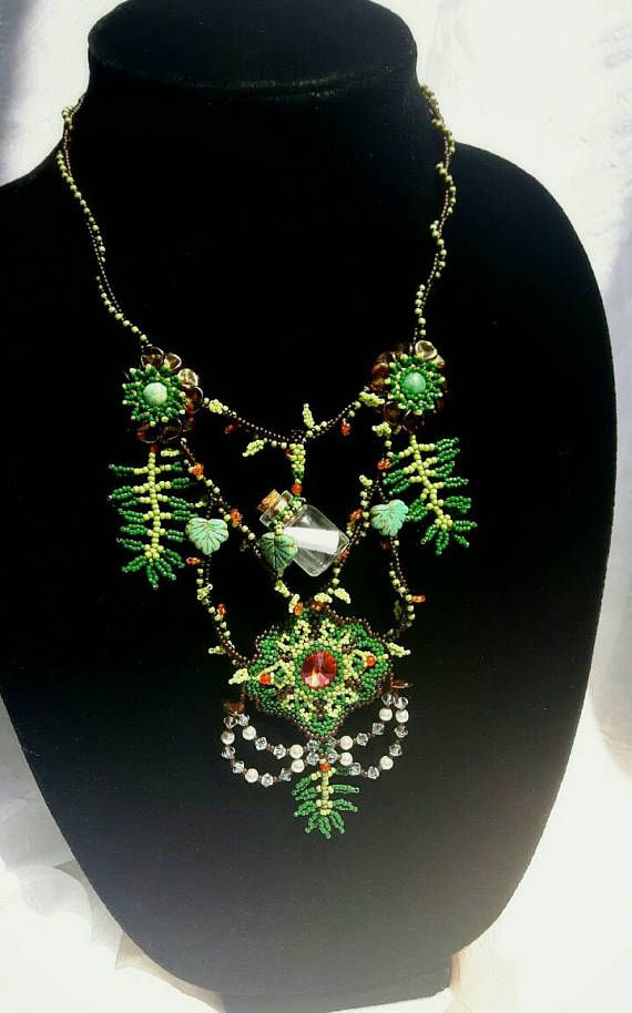 Hey, I found this really awesome Etsy listing at https://www.etsy.com/ca/listing/540631847/summer-statement-necklace-jungle-leaf