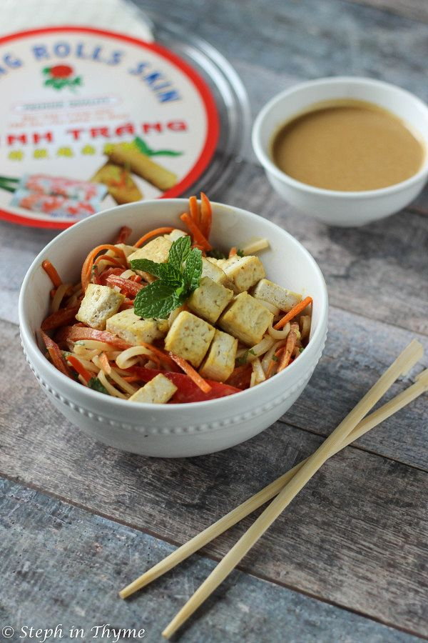 No wrapper? No problem. Vietnamese Summer Roll in a bowl!