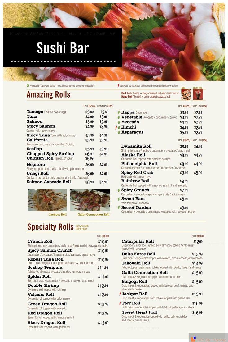 288 best images about restaurant menus of toronto on for Arisu japanese cuisine