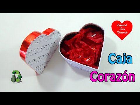 155. Manualidades para San Valentín: Caja corazón (Reciclaje de cartón) ...