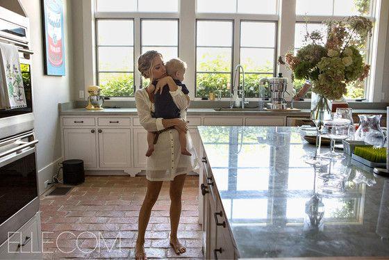 Pregnant Kristin Cavallari Cuddles Her Baby Boy While Showing Off Her Gorgeous Nashville Kitchen—Take a Look!  Kristen Cavallari, Elle