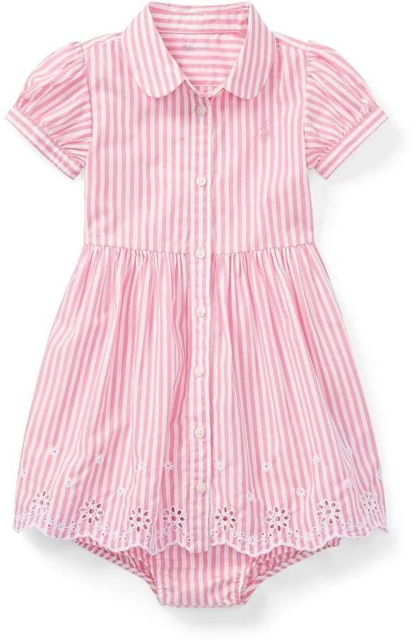 Ralph Lauren Eyelet Hem Dress Bloomer Com Imagens Roupas De Criancas Roupas