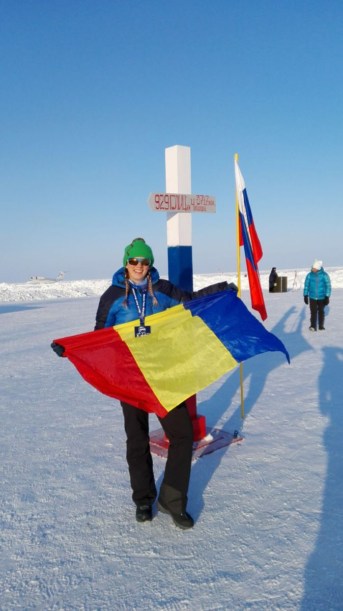Romanian woman wins silver medal in the North Pole marathon