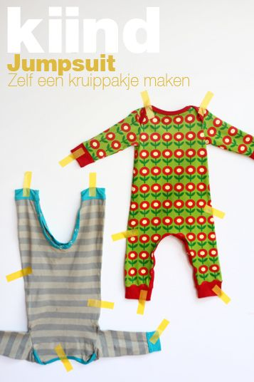 Jumpsuit/box pakje patronen in verschillende maten + tutorial