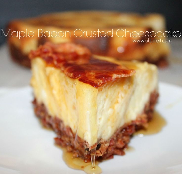 ~Maple Bacon Crusted Cheesecake! | Oh Bite It