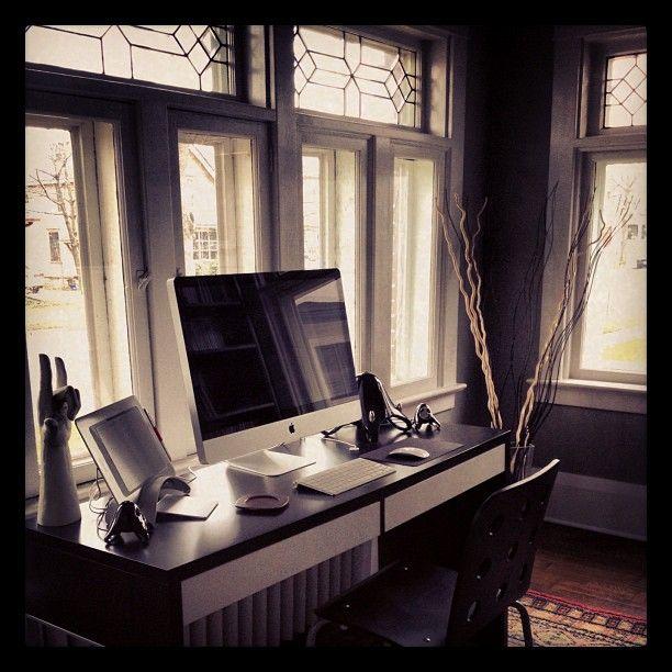 "New Home Office - 2012    27"" iMac  2.8GHZ (Intel Core i5 Quad-Core)  16GB RAM  1TB HD  Apple Wireless Keyboard  Apple Magic Mouse  Apple TrackPad  JBL Creature III's  JBL Reference 420 Headphones  Wacom Bamboo Fun Pen & Touch  Twelve South BookArc"