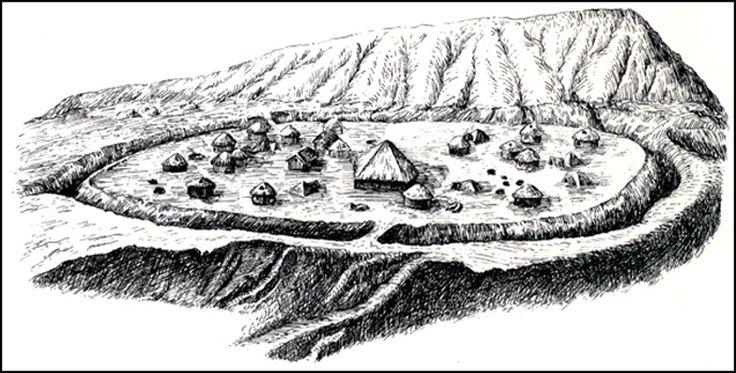 Ricostruzione del villaggio di Banpo.