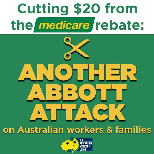 MEDICARE IS AN INALIENABLE RIGHT OF ALL AUSTRALIANS AND MUST BE PROTECTED. ================================================ AWU Tasmania ‏@AWUTasmania Medicare is part of our social fabric and must be defended #auspol #ausunions