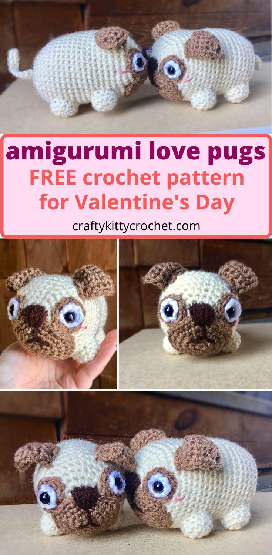 Elfin Thread- Queency The Pug Puppy Amigurumi PDF Pattern (Crochet ... | 1500x735