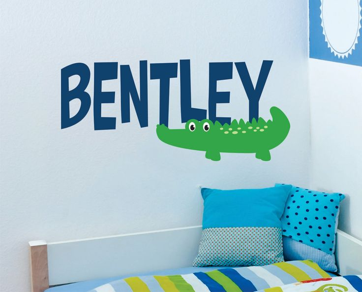 Alligator Wall Decal  Baby Boy Name Wall Decal with by LucyLews, $22.00