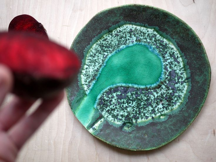 Wetlands 01 ceramic plate inspired by nature. 100% handmade work. Projectorium