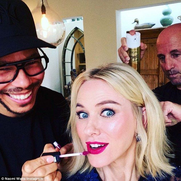 Beauty hack: Actress Naomi Watts, 47, said she applies blush under her eyes to give a yout...