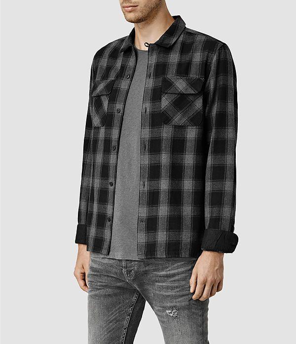Men's Kapelle Shirt (Grey Marl Check) - product_image_alt_text_2