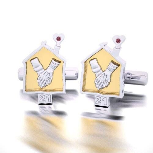 Commissioned by Ronald McDonald House, Rosendorff jewellers designed and hand crafted these one of kind Cufflinks, given to sponsors as a token of appreciation from Ronald McDonald House Charity.