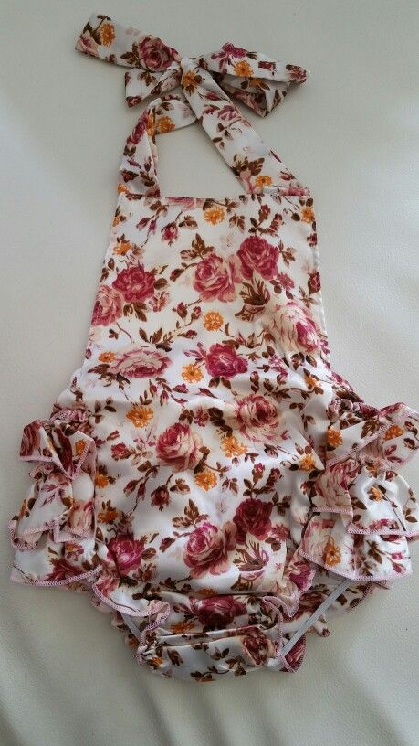 Vintage Rose Satun ruffle Romper 10-12 months $15  Local pick up -Midland, Perth, WA Delivery available: worldwide