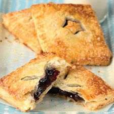 Blueberry Hand Pies: King Arthur Flour -- try this mostly for the CRUST recipe which uses sour cream and involves FOLDING like an envelope twice.