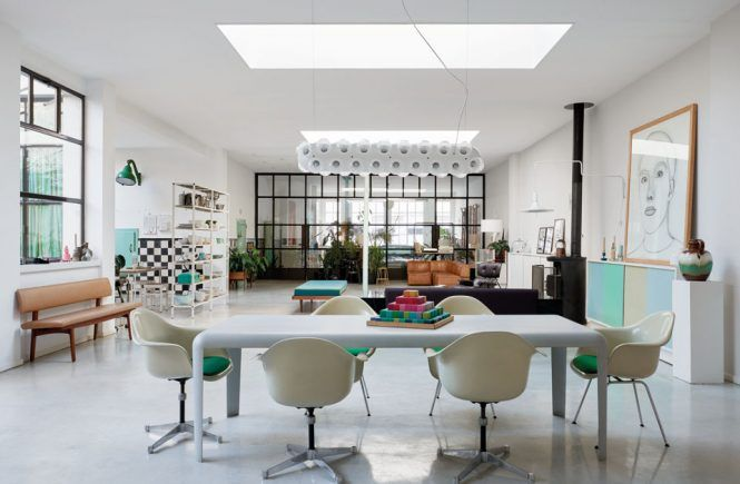 A former milk factory in The Hague has been transformed into a unique family home.