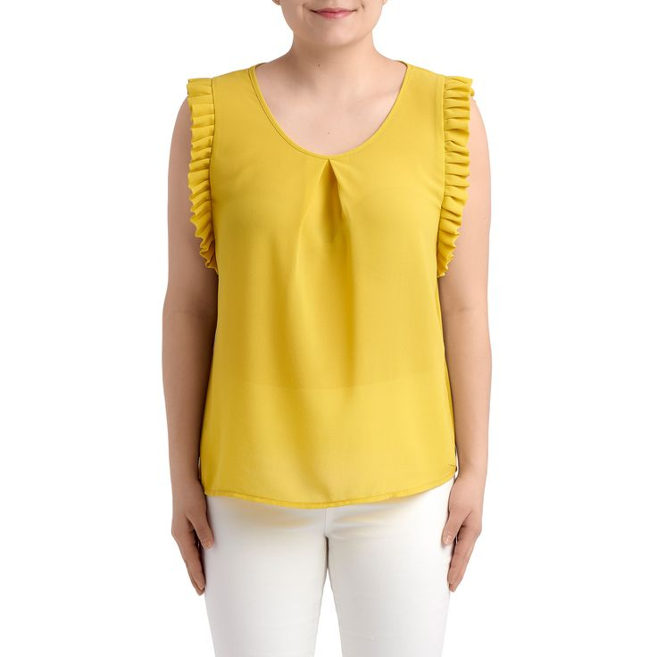 GINGER Top by Molly Bracken - Basic top - Yellow spring-summer top - Yellow t-shirt - Forevermlle.com online store