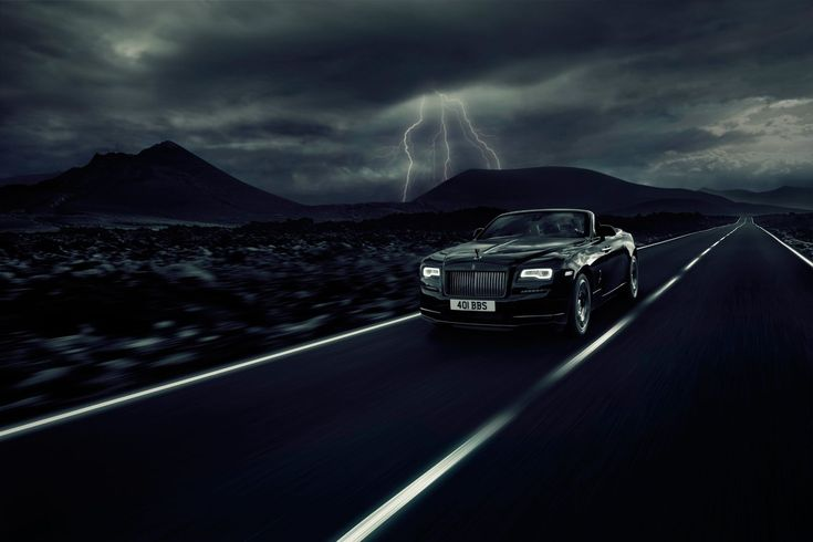 The Rolls Royce Dawn Black Badge is a convertible for gents in a hurry