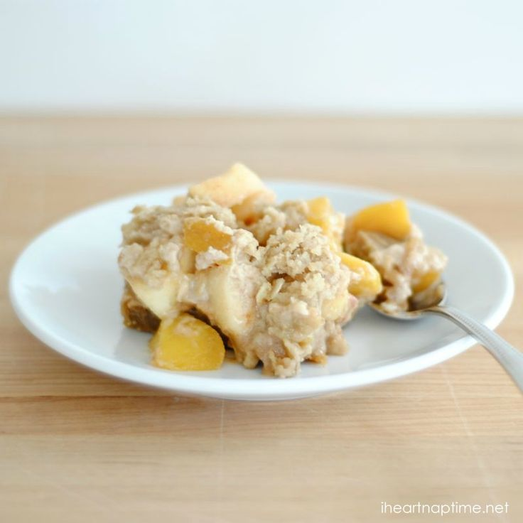 snickerdoodle apple peach crisp