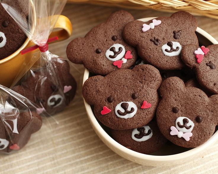 handmade cookies kit バレンタインキット happyくまちゃんクッキー