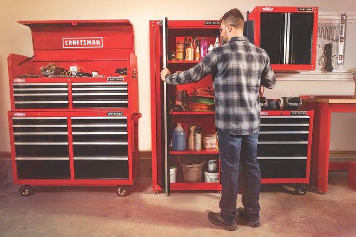 Craftsman 32 Inch Wide Freestanding Tall Garage Storage Cabinet