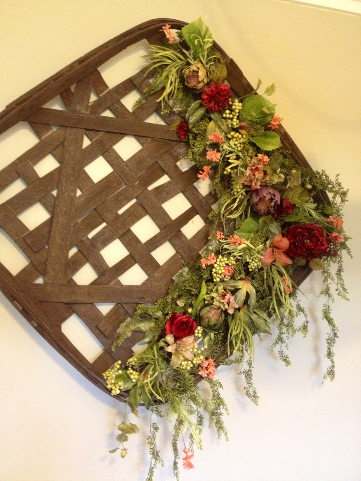 Decorated Tobacco Basket for Angie!
