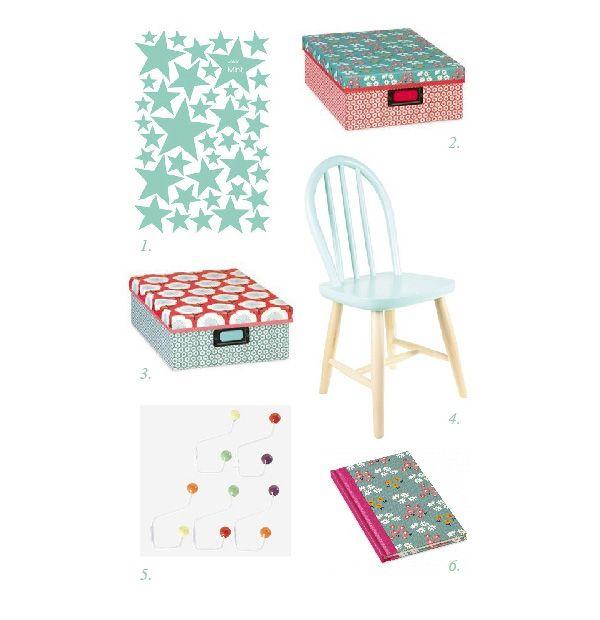 Objetos para decorar las habitaciones infantiles en verde mint en la tienda de Deco & Living