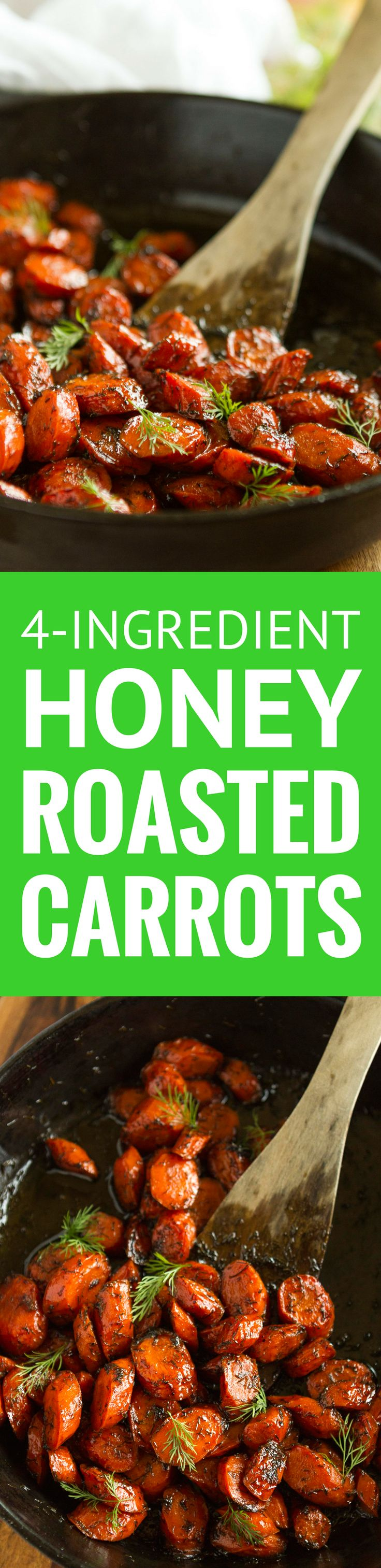 Brown Butter Honey Roasted Carrots with Dill -- this easy roasted carrots recipe is sure to get the whole family to eat their veggies! Just 4 simple ingredients: brown butter, carrots (of course), honey and dried dill… Totally amazing!!! | roasted carrots honey | roasted carrots oven | roasted carrots healthy | find the recipe on unsophisticook.com