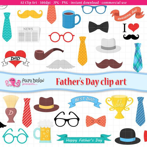 Father S Day Clip Art Fathers Day Clip Art Best Dad Etsy Father S Day Clip Art Clip Art Digital Clip Art