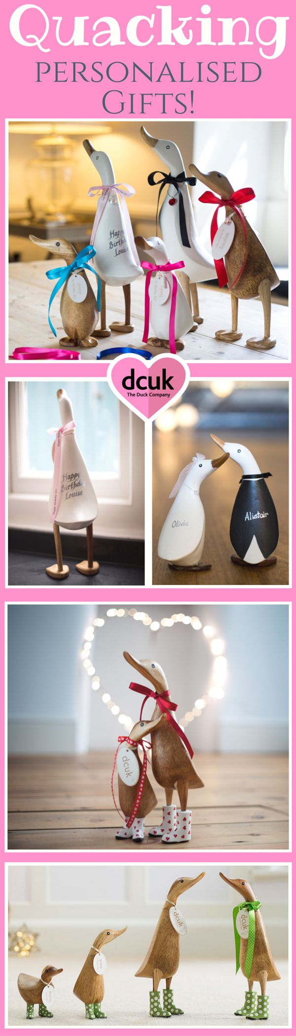 For quacking personalised gifts for all occasions, take a waddle over to our website to view our huge variety of duck, penguin and owl gift ideas! The Duck Company, DCUK