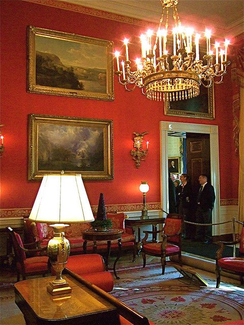 The Red Room in the White House :)