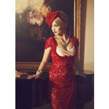 La Fille en Rouge Wiggle Dress - $289.00