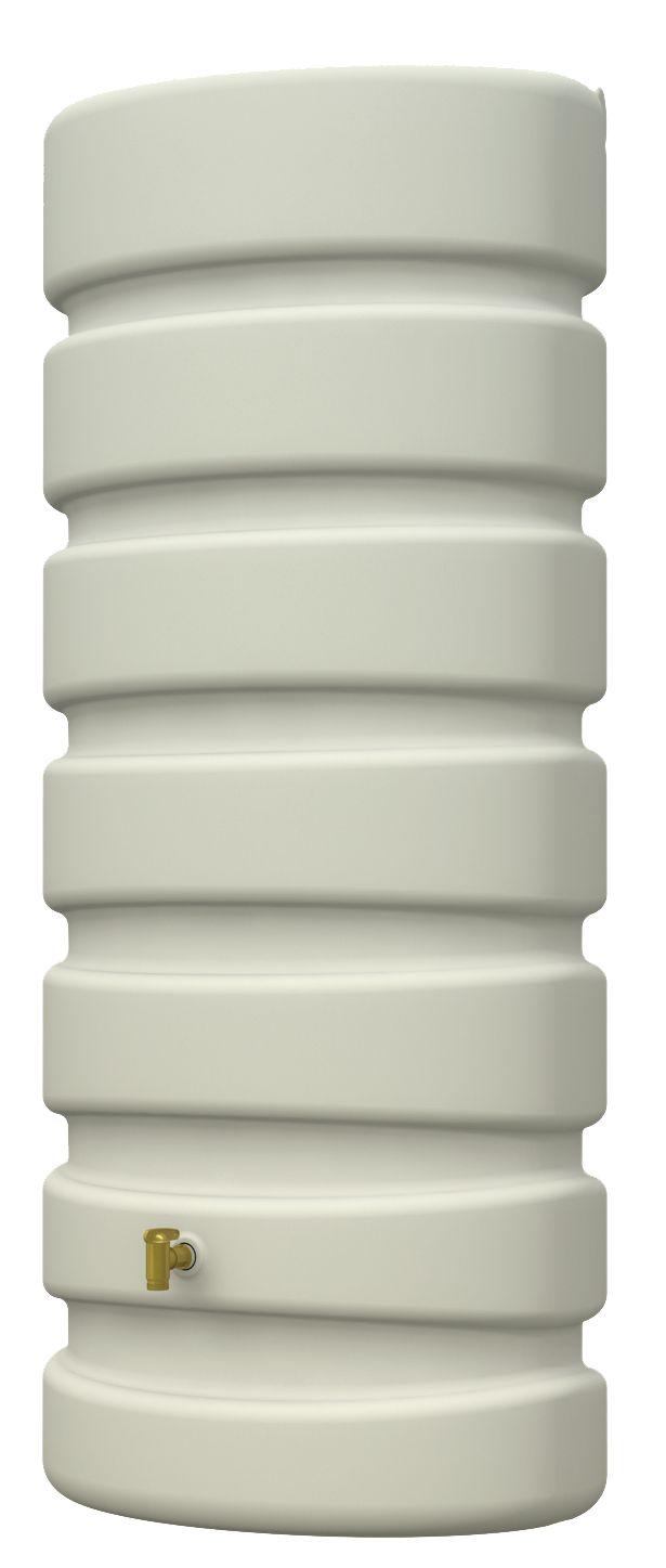 De beige classic wall tank is een ovale tank met een klein vloeroppervlak. Deze bestaan in volume van 300l en 650l.